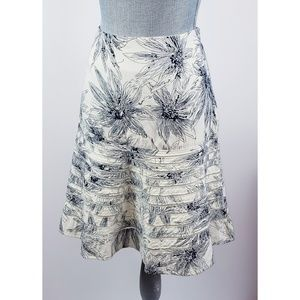 Anthro Viola Cotton A-Line Floral Printed Skirt